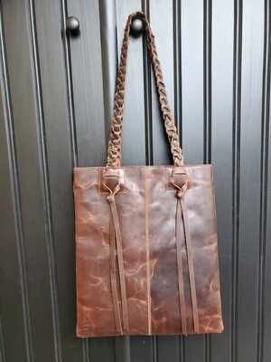 Braided Leather Tote