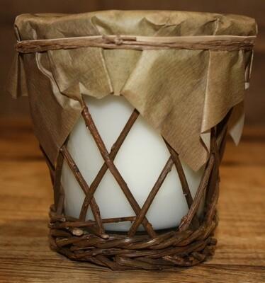 Burlap & Barnwood Candle