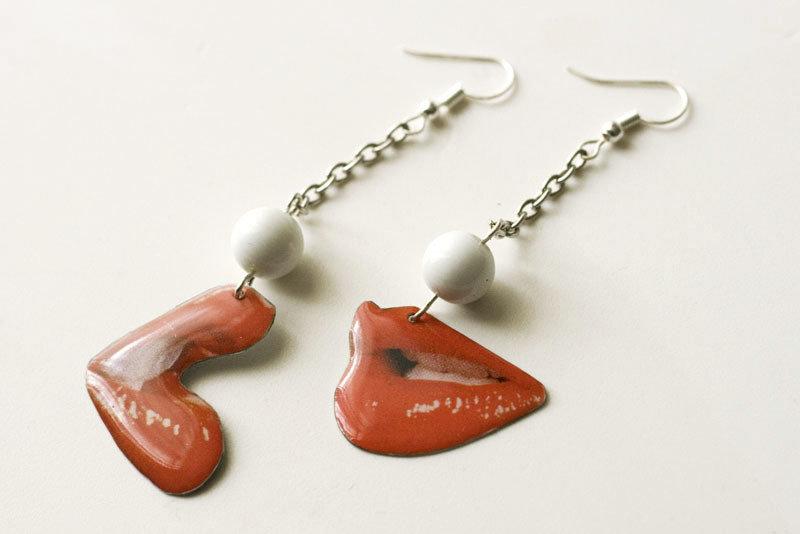 "Cercei ""Red Kiss"" Opal 00211"