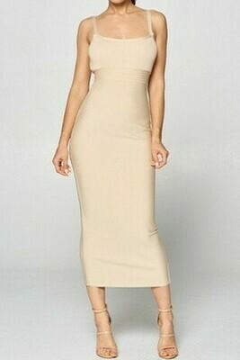 Oyster Midi Bodycon Dress