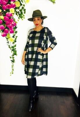 Checkered Aline Dress