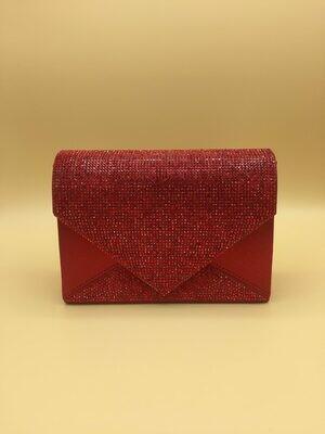 Red Rhinestone Clutch