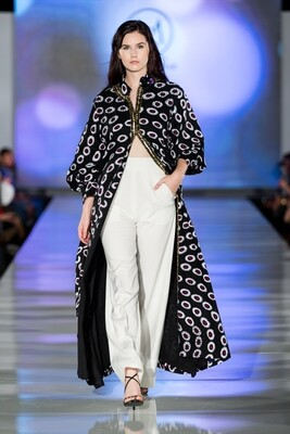 African tribal print embellished kimono