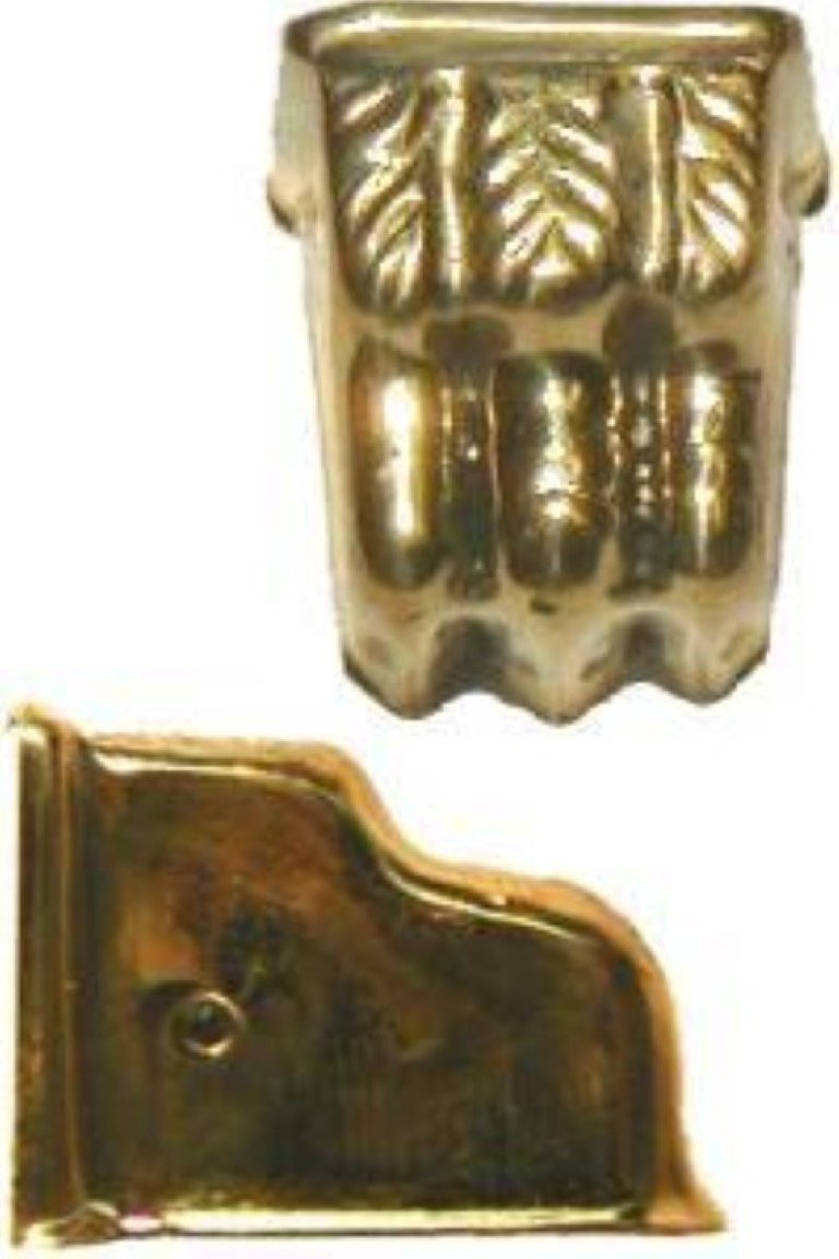 Small Bright Brass Stamped Claw Foot Toe Leg Cap Piano