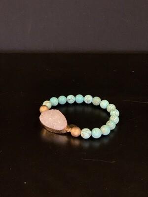 Stone Aqua Marine Bracelet(L/XL)