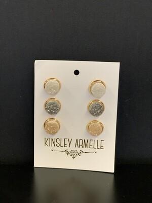Stone Quartz Earring Set