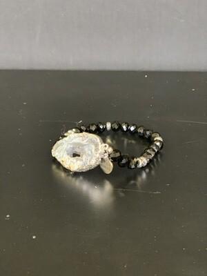 Agate Silver Tailor Bracelet
