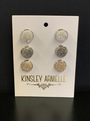 Stone Quartz Silver Earring Set