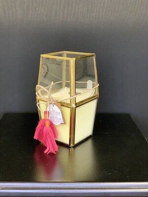 Pink Tassel Faceted Candle