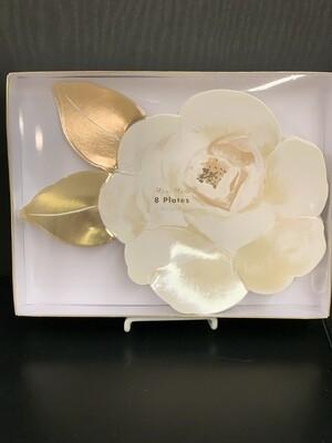 White Rose Plates