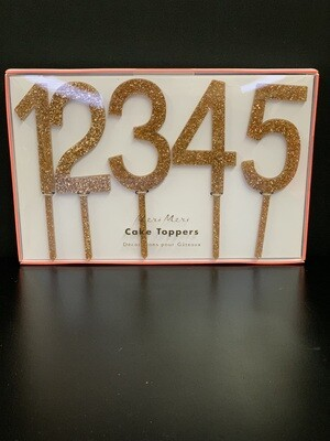 Gold Acrylic Number Toppers