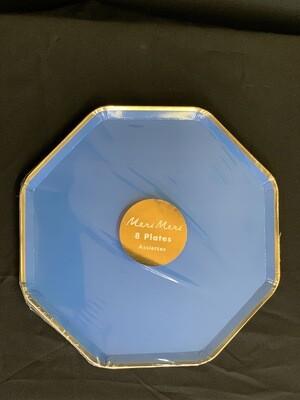 Bright Blue Side Plates