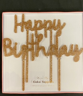 Happy Birthday Acrylic Topper