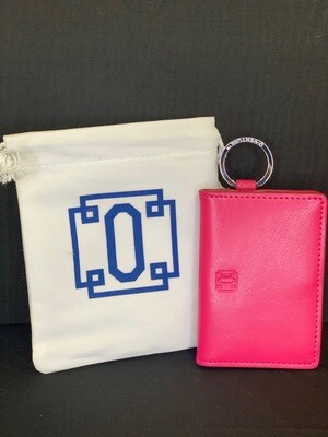 Leather ID Case - Pink
