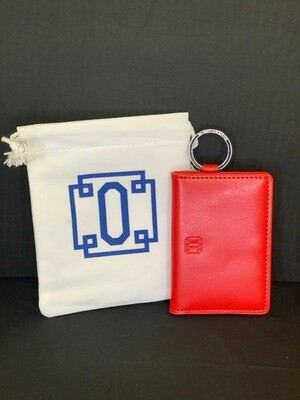 Leather ID Case- Red