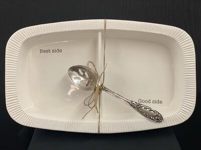 Divided Side Serving Dish