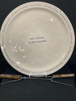 S'more Plate & Skewer Set