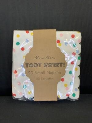 Toot Sweet Spotty Napkin - small