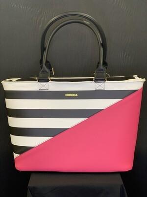 Virginia Tote-Pink Stripe
