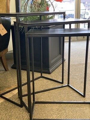 Black tables Set of 3