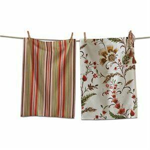 Autumn Bloom Dish Towel-Set 2