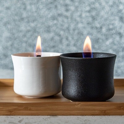Ceramic Candle Deluxe White