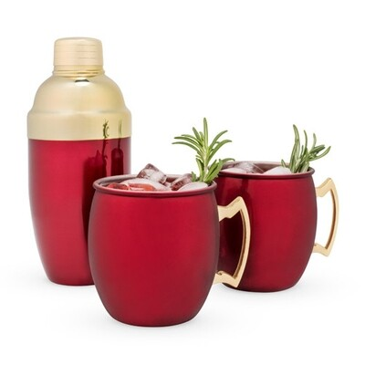 Red MuleMug & Cocktail Gift Set