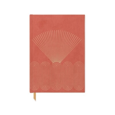 Bright Terracotta Radiant Rays Book