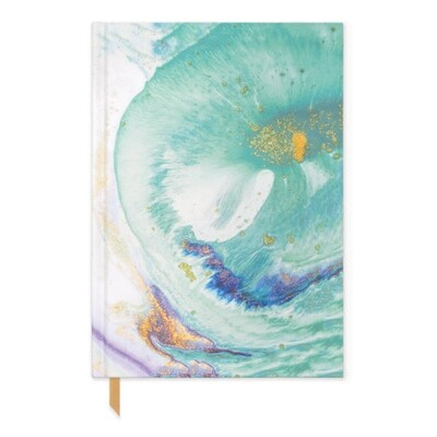 Teal Marbled Hardcover Book