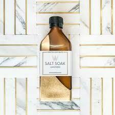 Lavender Large Salt Soak