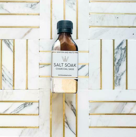 Charcoal Sage Small Salt Soak