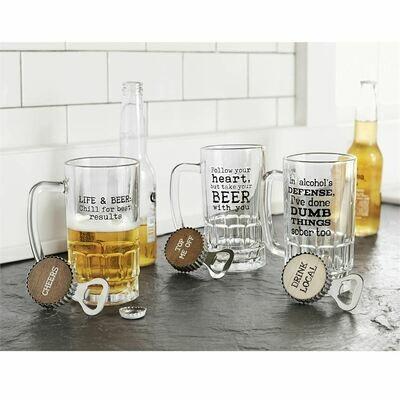 Life Beer Mug Set