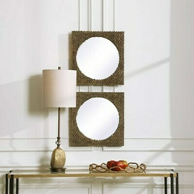 The Hive Square Mirrors-Set of 2