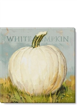 White Pumpkin Wall Art