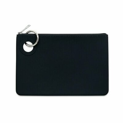 Large Silicone Pouch-Black