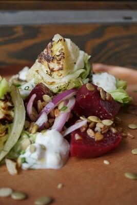 Charred Lettuces Salad