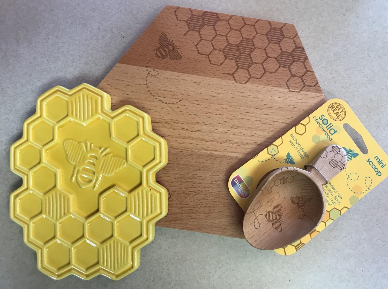 Honey Bee Cheese Board