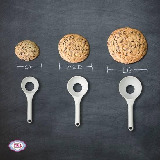 Pop-Out Cookie Dough Scoop Set - Set of 3 - Vanilla