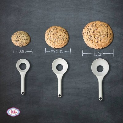 Pop-Out Cookie Dough Scoop Set - Set of 3 - Vanilla