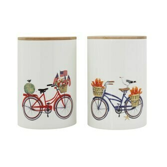 Stoneware Canister - Bike