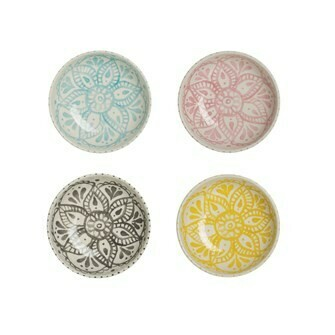 Stoneware Flower Bowl - Assorted Colors