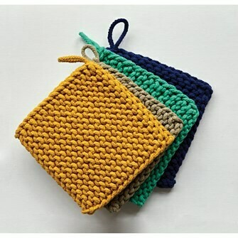 Crocheted Oven Mitt - Assorted Colors Bold