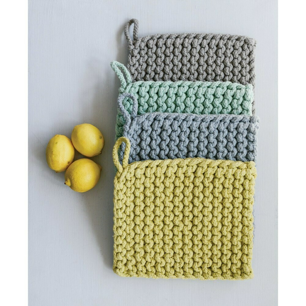 Crocheted Oven Mitts - Assorted Colors - Light