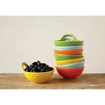 Stoneware Berry Strainer - Assorted Colors