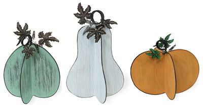 Metal Colored Gourds - Assorted Sizes/Colors