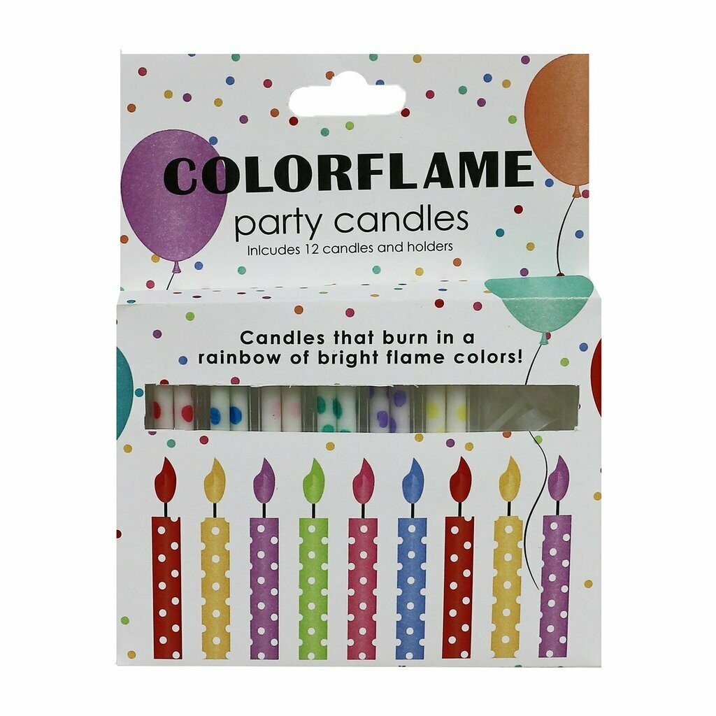 Color Flame Birthday Candles
