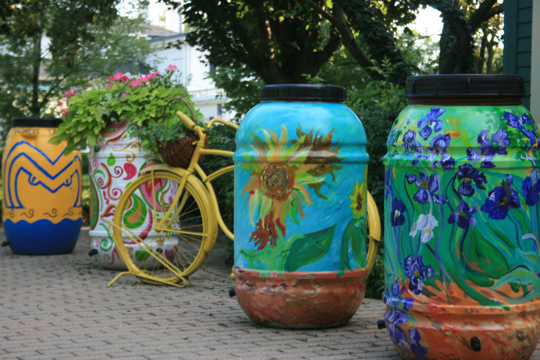 Custom Painted Rain Barrel 00018