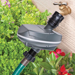 * Drip Irrigation to Spigot (+$80.00) We will connect the irrigation to your spigot using a Y connector so you can still use your hose. We will also attach an adjustable automatic timer and pressure reducer, so you can easily change the irrigation time through the season.
