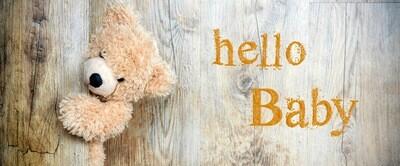 Faltkarte lang (8.7x21) Hello Baby