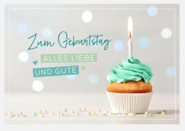 Geburtstag Muffin Faltkarte (12x17)